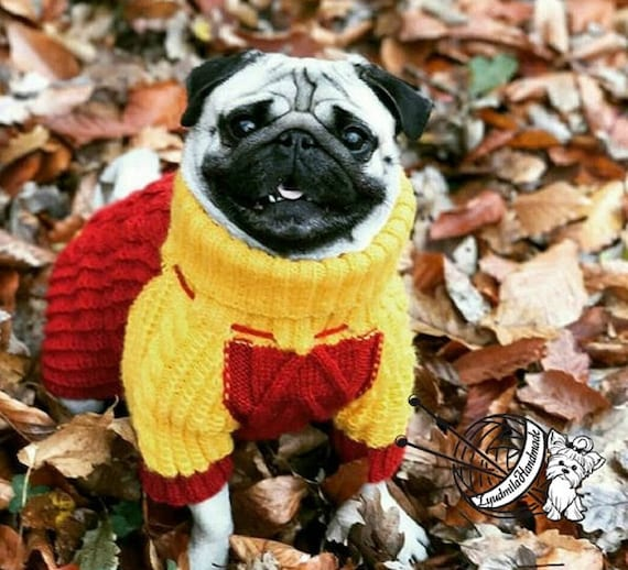 Sweater for pugs dog jacket warm sweater for dogs dog coat Knit Dog Sweater  yorkie sweater pet gift funny dress for dog yorkie dog clothes