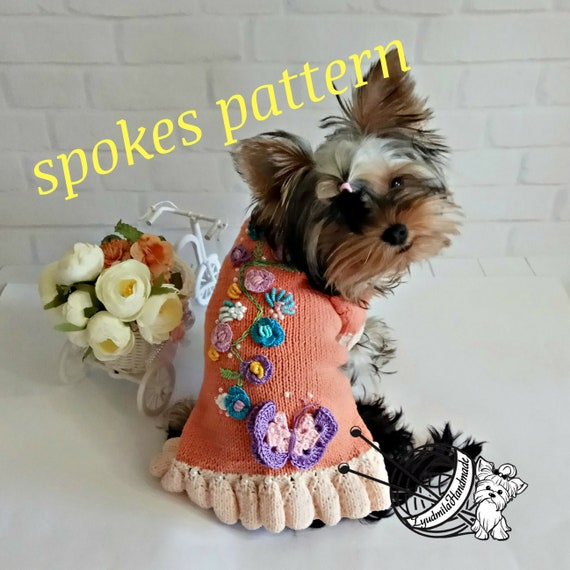 Easy Knitting Pattern Dog Dress Pattern Sewing Pattern Pdf Etsy