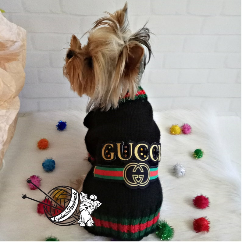 c23672959bb Knitted dog sweater designer dog clothes yorkie dog clothes