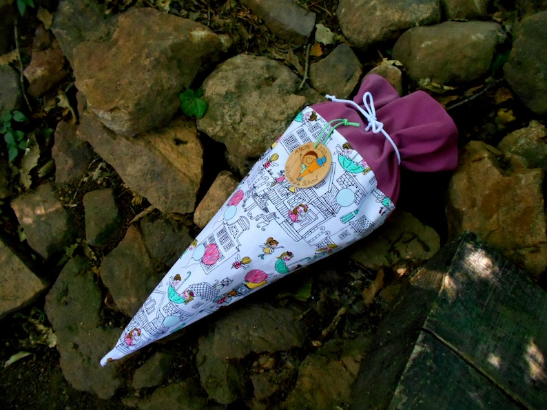 Girl Schultute Beginning of school schultüte kinder cone gift cone in 3 size