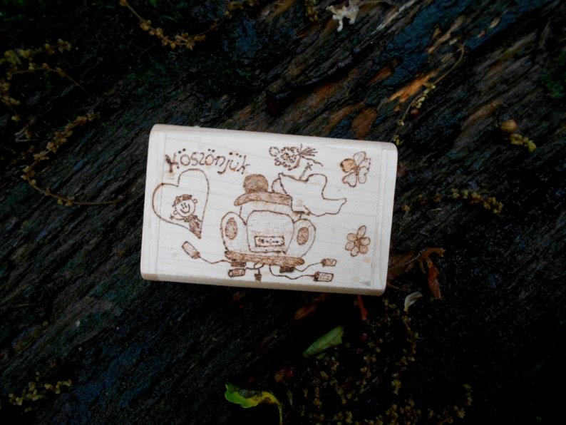 8 GB Personalized USB wooden 2.0 Pendrive Flash Pen Drive Memory Stick