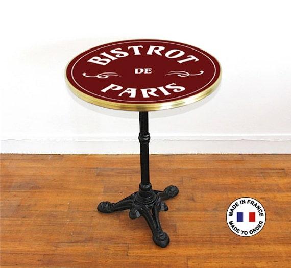 French Enamel Bistro Table Bistrot De Paris Diameter 23 6 In Enamel Bar Table To Customize Genuine Enamel Paris Design Made In France