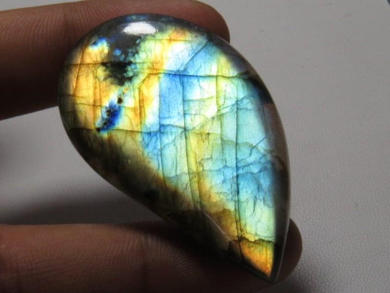 33.60 Ct 100 /% Natural Increadible Labradorite 28.50x21x6.50 MM Multy Purple Fire Coffin Shape Cabochon Loose Gemstone Good Quality LD427