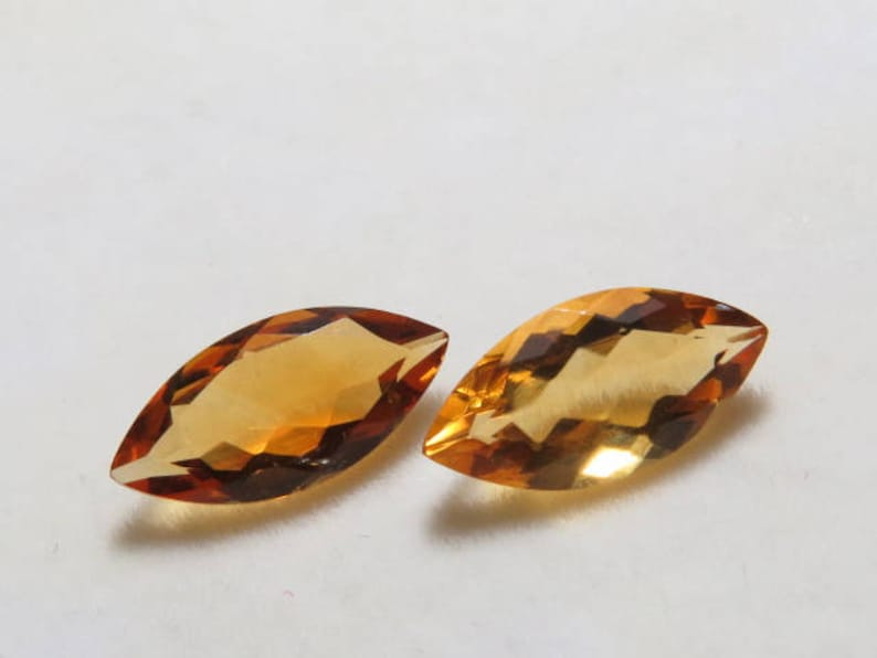 Citrine Natural Golden Color Matching Pair Size 8x16 mm Faceted Fine Cut Marquise Shape Weight 6.05 crt Cut Stone Top Quality