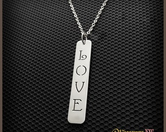 "Sterling Silver Love Pendant / Necklace ""100% Satisfaction Guarantee or Money Back"""