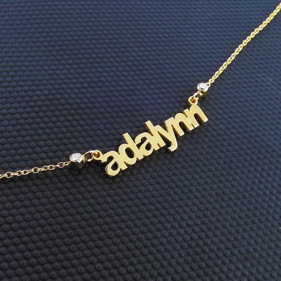 Multi Name Halskette 14k Gold Name Halskette-mehrere Namen | Etsy