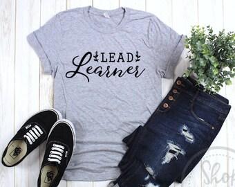 9c08260d Lead Learner Shirt, Homeschool Mom Shirt, CC Mom Shirt, CC Tutor Shirt,  Homeschool Tshirt, Tutor gift, Teacher shirt, Teacher gift