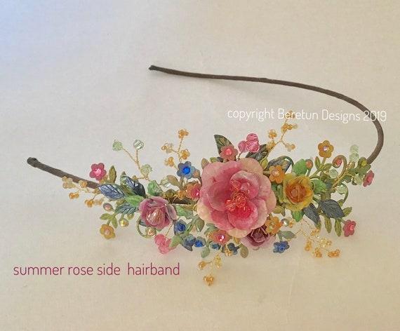 Floral Design Side Band Tiara
