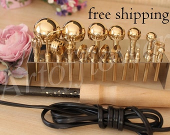 Please check my other sets.19 Millinery Fabric Flower Making Tools High Quality Brass Set+Soldering iron+Video in English 45 min+Books