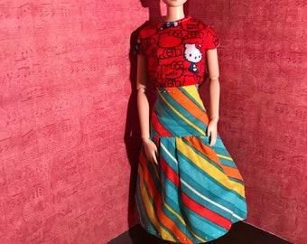 Hautepoppet summer stripes skirt dor classic size fashion dolls