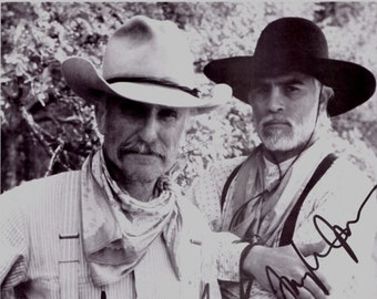 028c42945a518 Autographed Lonesome Dove 8 x 10 Photo Gus and Call rovert Duvall and Tommy  Lee Jones