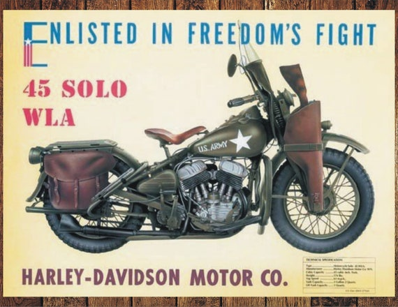 1941 Vintage Model EL Flathead MOTORCYCLE Sturgis Advertisement 12x18 Color PRINT