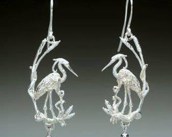 Heron Earrings