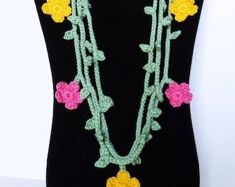 Crochet Necklace Pattern: Vine Necklace, PDF download