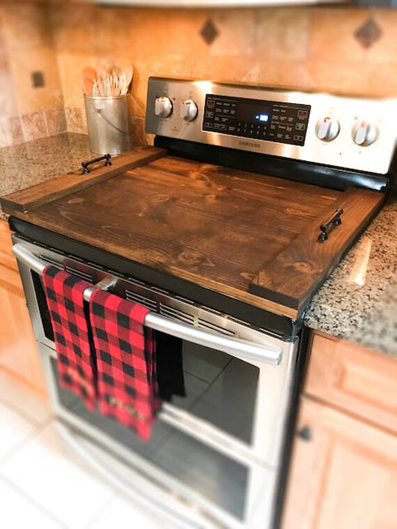 Wooden Stove Cover Stovetop Cover Cooktop Cover Serving Etsy