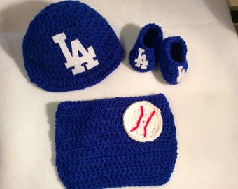 22c405a62c9 Free Shipping - Los Angeles Dodgers Newborn Baby Set - Baby Prop - Baby  Shower Gift Set