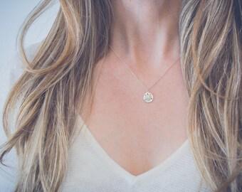 Silver beach necklace | Sand dollar necklace, Tiny necklace, Silver charm necklace, Sterling silver necklace, Dainty jewelry