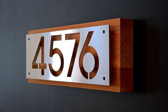sur mesure en acier inoxydable et plaque de c dre maison etsy. Black Bedroom Furniture Sets. Home Design Ideas