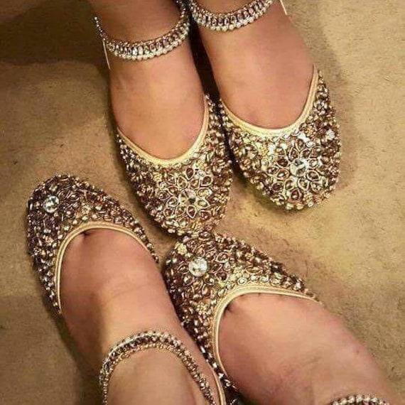 wedding shoes bridal shoes kundan khussa pumps heels sandals womens shoes indian bridal shoes wedding flats