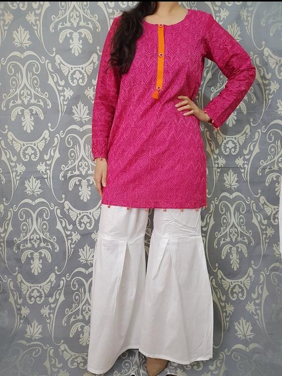Ladies Girls Shalwar Salwar Capri Trouser Pencil Pant pakistani indian wear