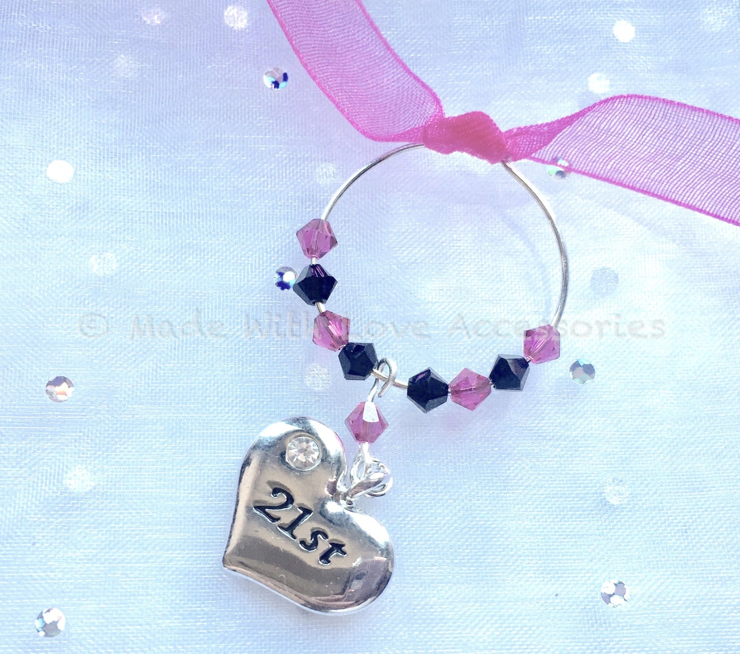 21st Birthday Wine Glass Charm Wine Charms Gift Ideas