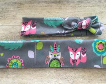 Wildlife Critters Top Knot Headband Baby Girl Accessory