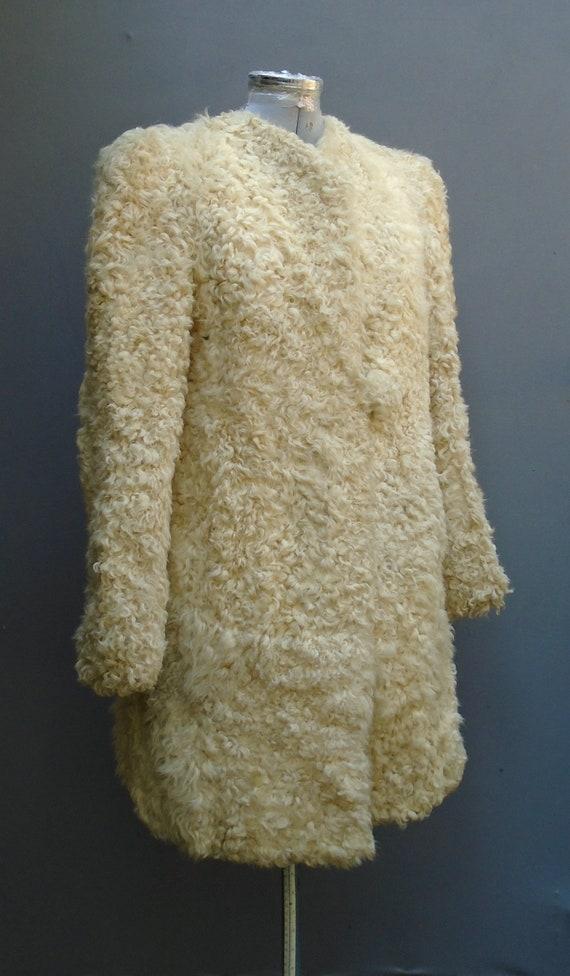 Superb Original Vintage 1940s Coat Jacket Hood Mu… - image 3