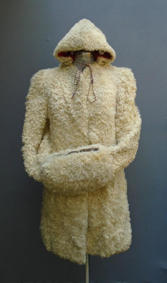 Superb Original Vintage 1940s Coat Jacket Hood Mu… - image 1