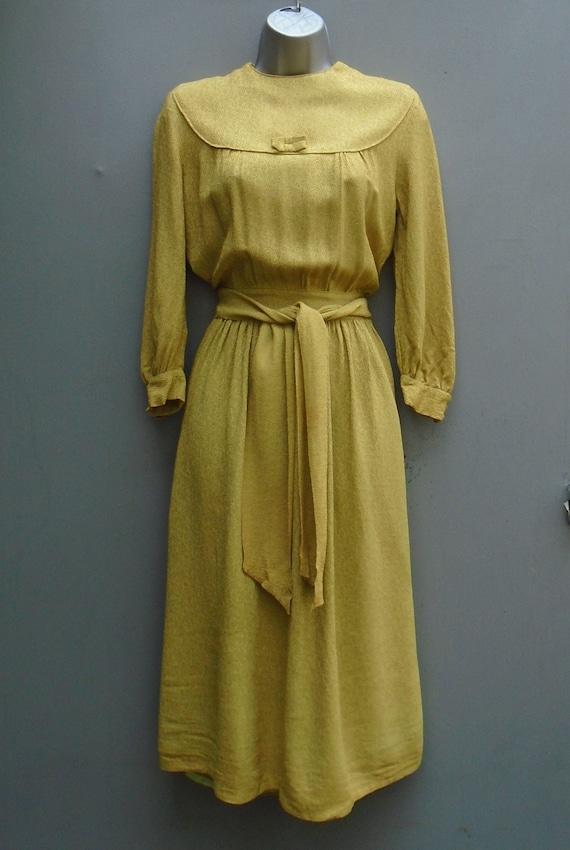 Original 1940s 30s Handmade Vintage Dress WW2 Char