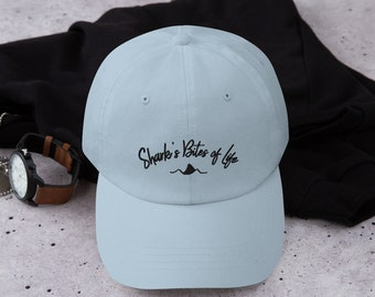 Dad hat with Shark fin, Sharks bites of life baseball hat