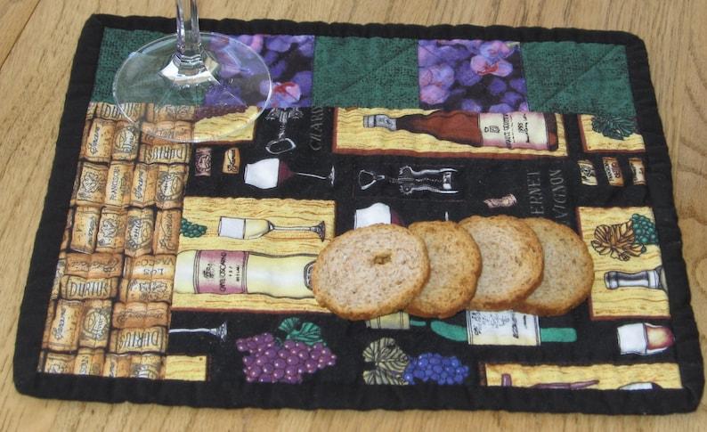Wine Themed Snack Mat