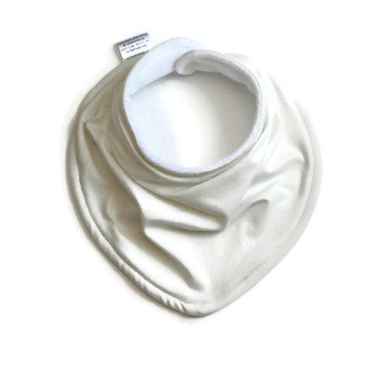 Solid cream unisex baby bandana bib