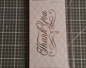 Thank You- Hot Foil Stamps (Go Press Foil) by Couture Creations