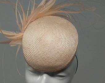 SAMPLE SALE: Straw percher hat perfect for wedding guests, mother of the bride hat, Ascot races, Melbourne Cup.