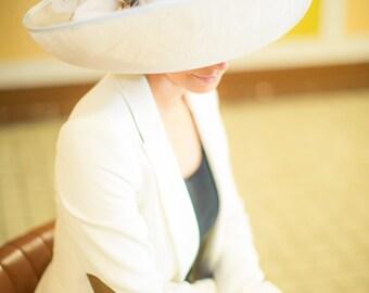 camilla wide upturned brimmed formal hat