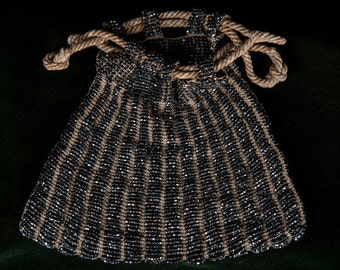 Classic Victorian Beaded Purse c.1900-1910