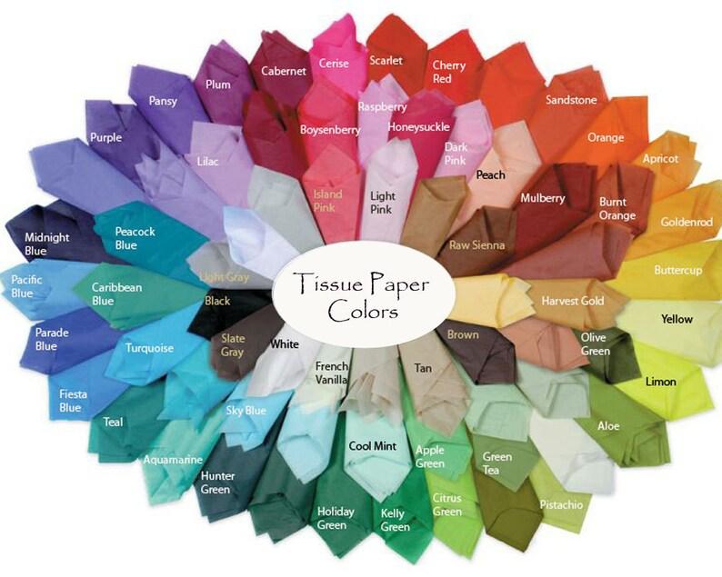 Colored Tissue Paper Sheets 12 sheets per set SatinWrap image 0