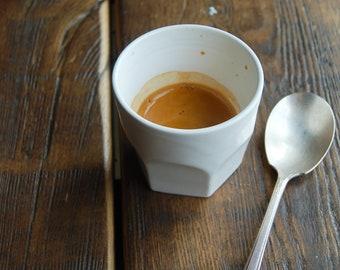 4oz coffee cups, set of 2 - hand thrown ceramic coffee tumbler for espresso or tea