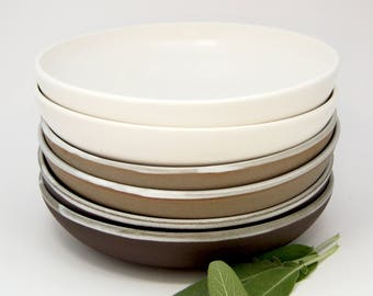 Ceramic pasta bowl - hand thrown ceramic meal bowl