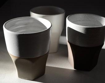 12oz coffee cups - hand thrown ceramic coffee mug
