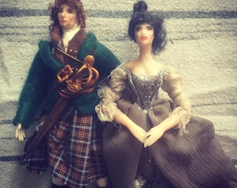 Jamie Fraser and Claire Beauchamp dolls free shipong