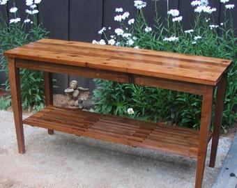 Custom Cedar Potting Bench Water Station Outdoor Kitchen