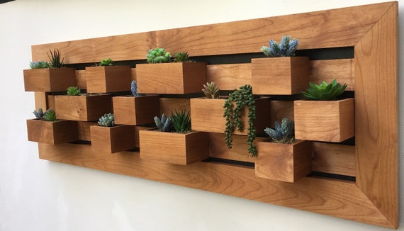 Modern Wall Planter Vertical Succulent Wall Art Wall Etsy