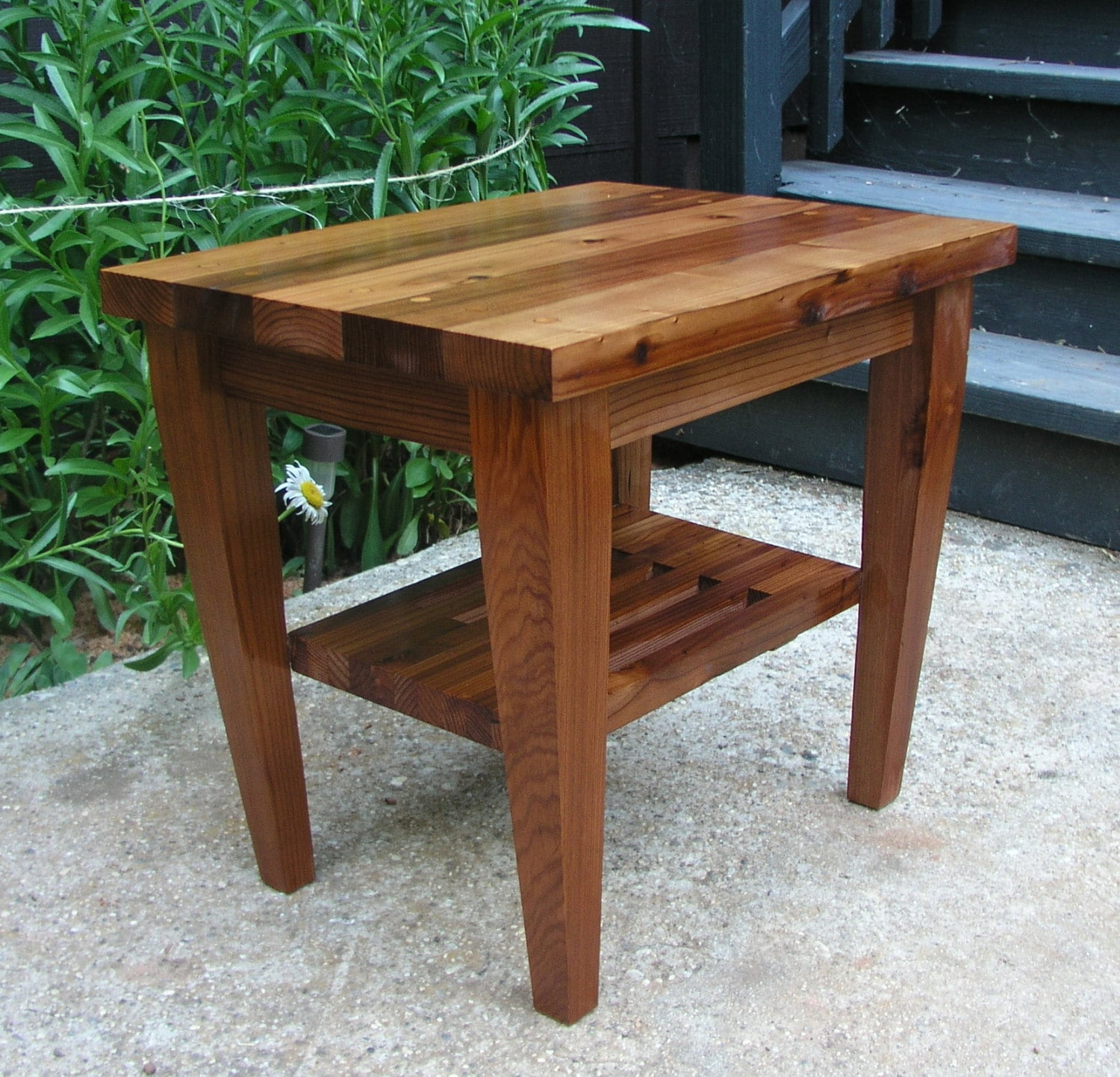 san francisco 463fb 636ec Modern Matching End Table for Modern Adirondack Chair Made From Redwood.