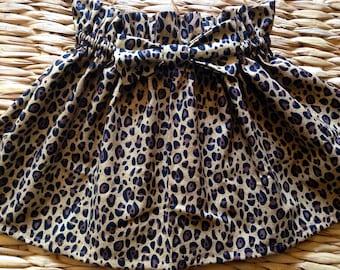 Leopard print baby skirt