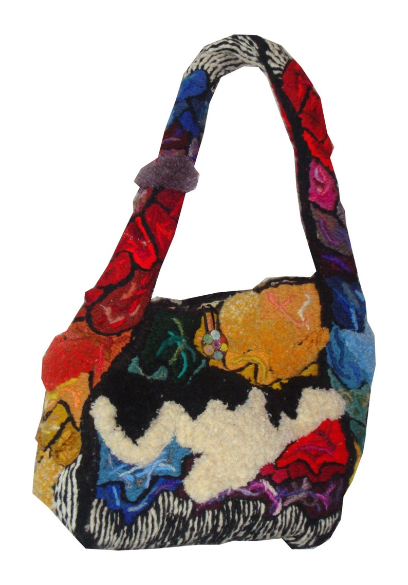 Palette  embroidery sculpted handbag David Wolfe 2013 image 0