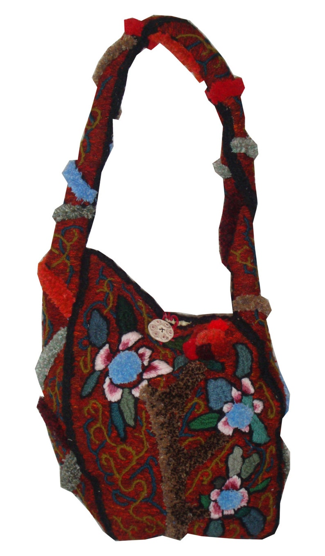 Gypsy at heart  embroidery sculpture handbag David Wolfe image 0