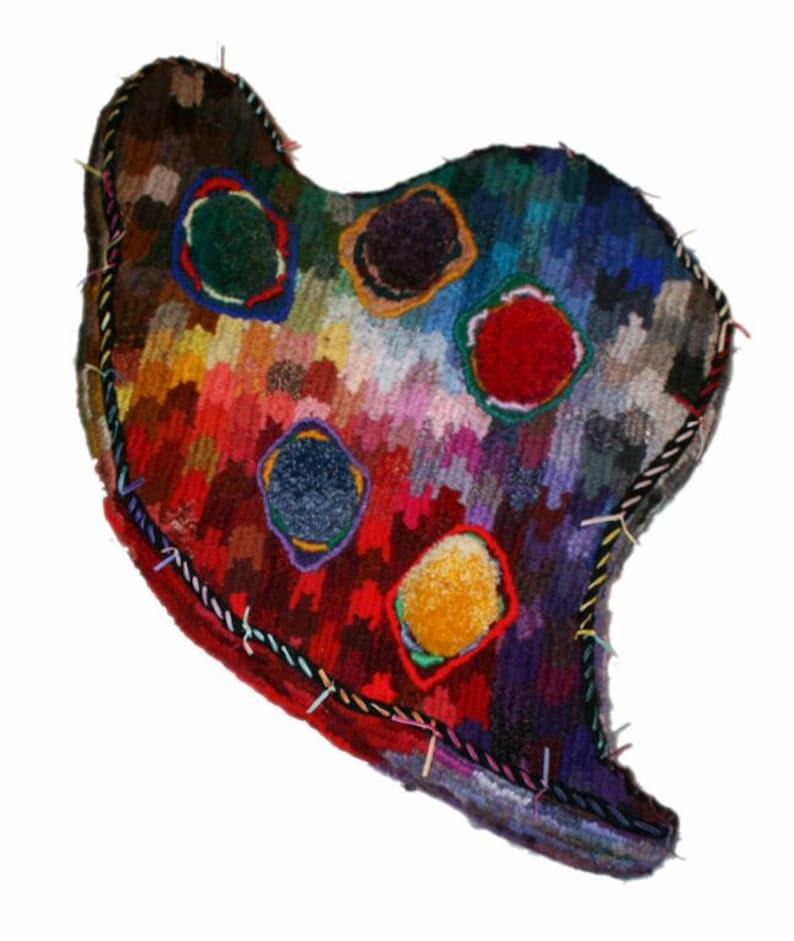 Imperious Heart  floor cushion or wall art David Wolfe image 0
