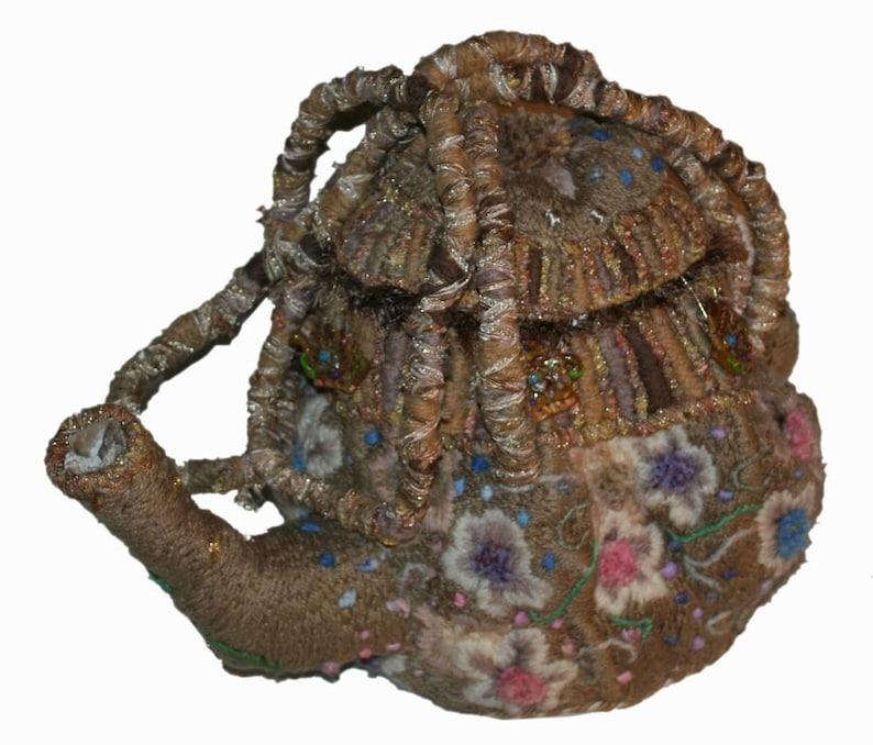 Felicitea  embroidered handbag or interior art David Wolfe image 0
