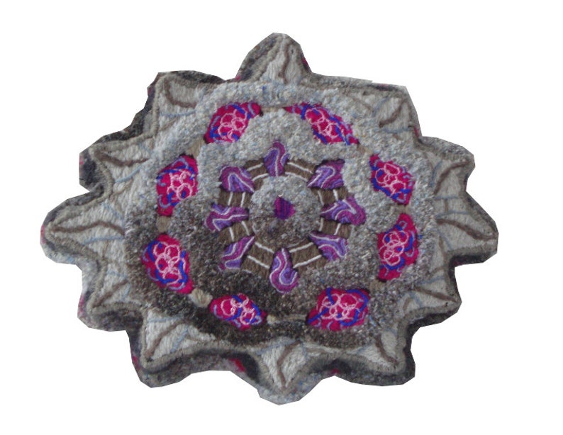 Get thee to a nunnery  embroidery sculpted floor cushion or image 0
